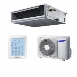 Samsung Légcsatornás (AC035RNMDKG/EU+AC035RXADKG/EU)+érintőgombos vezetékes faliszabályzóval