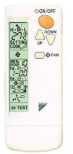 Daikin (BRC7E530) infra szabályzó